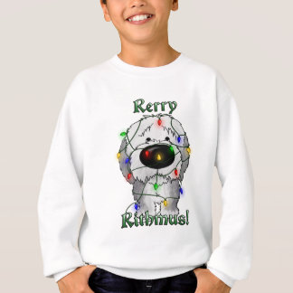 Old English Sheepdog - Christmas Lights Sweatshirt