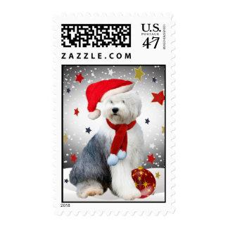 Old English Sheepdog Christmas Postage
