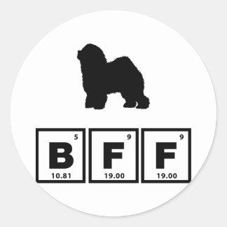Old English Sheepdog Classic Round Sticker