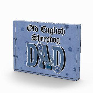 Old English Sheepdog DAD Acrylic Award