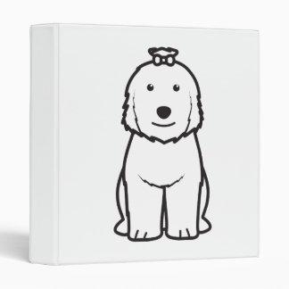 Old English Sheepdog Dog Cartoon 3 Ring Binder