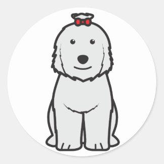 Old English Sheepdog Dog Cartoon Classic Round Sticker