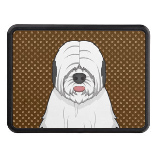 Old English Sheepdog Dog Cartoon Paws Tow Hitch Cover