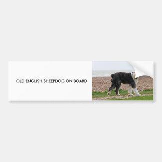 Old English sheepdog dog custom bumper sticker Car Bumper Sticker