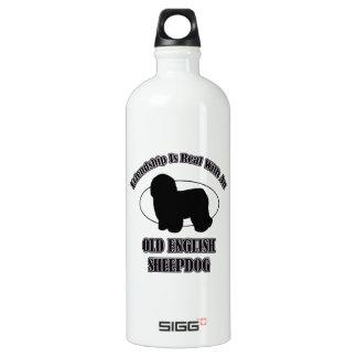 OLD ENGLISH SHEEPDOG DOG DESIGNS WATER BOTTLE