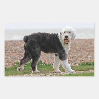 Old English Sheepdog dog stickers, gift Rectangular Sticker