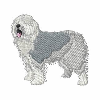 Old English Sheepdog Embroidered Hooded Sweatshirts