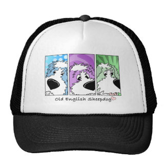 Old English Sheepdog Faces Hat