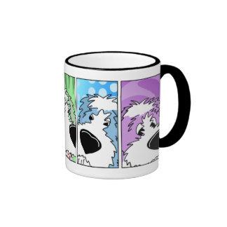 Old English Sheepdog Faces Mug Style #2