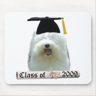 Old English Sheepdog Graduation 2009 Mouse Pad