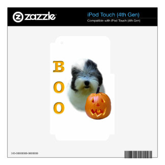 Old English Sheepdog Halloween Boo Decal For iPod Touch 4G
