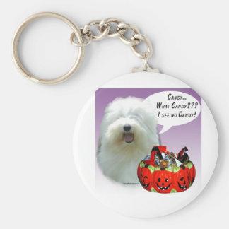 Old English Sheepdog Halloween Candy Keychain