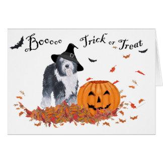 Old English Sheepdog Halloween Card