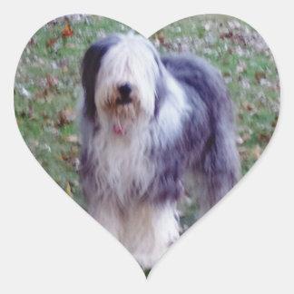 Old English Sheepdog Heart Sticker