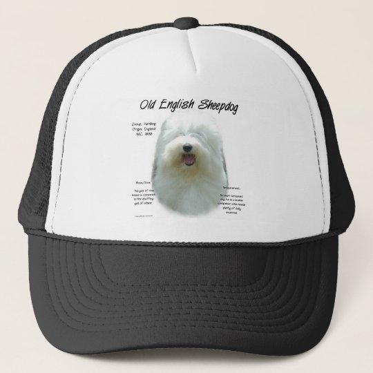 Old English Sheepdog History Design Trucker Hat