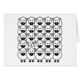 Old English Sheepdog in the Sheep Card