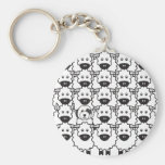 Old English Sheepdog in the Sheep Key Chain