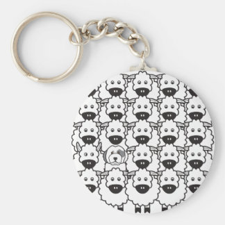 Old English Sheepdog in the Sheep Keychain