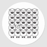 Old English Sheepdog in the Sheep Sticker