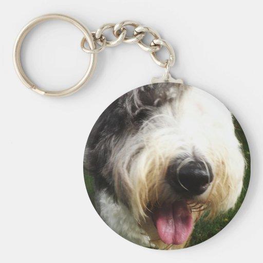 Old English Sheepdog Key Chain - Big Nose
