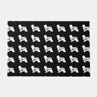 Old English Sheepdog Love Doormat