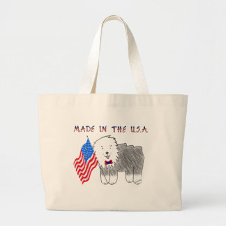 Old English Sheepdog Made In The USA Tote Bag