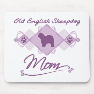 Old English Sheepdog Mom Mouse Pad
