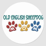 OLD ENGLISH SHEEPDOG Mom Paw Print 1 Sticker