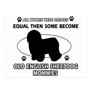 Old English Sheepdog Mommy Designs Postcard