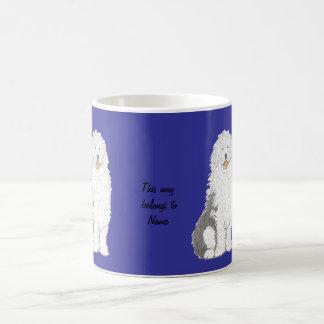 Old English Sheepdog Mugs,  add name Coffee Mug