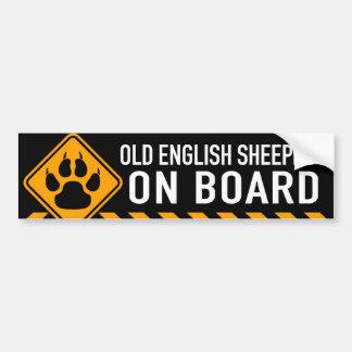 Old English Sheepdog On Board Bumper Sticker