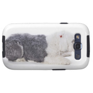 Old English Sheepdog on white background Galaxy SIII Cover