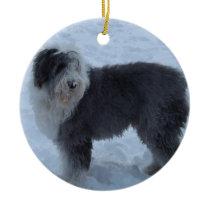 Old English Sheepdog Ornament - Snow Dog!