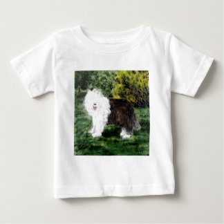 Old English Sheepdog Painting Baby T-Shirt