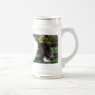 Old English Sheepdog Painting Beer Stein