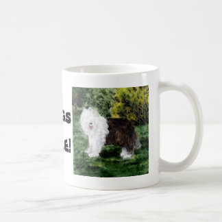 Old English Sheepdog Painting Coffee Mug
