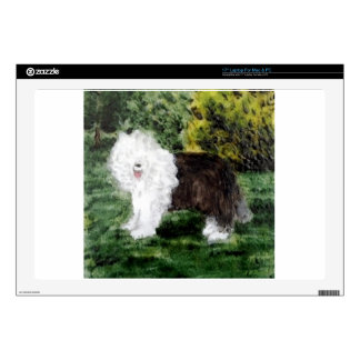 Old English Sheepdog Painting Decals For Laptops