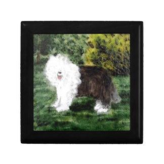 Old English Sheepdog Painting Gift Box