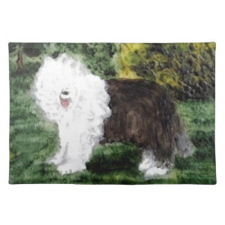 Old English Sheepdog Painting Placemat