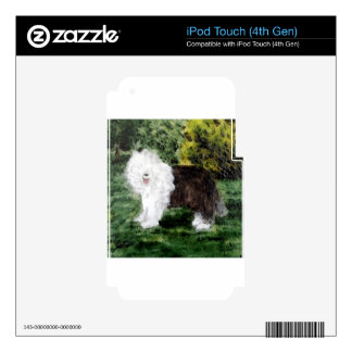 Old English Sheepdog Painting Skin For iPod Touch 4G