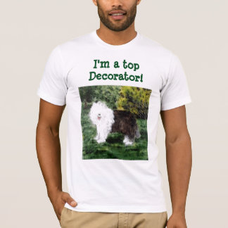 Old English Sheepdog Painting T-Shirt