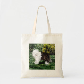 Old English Sheepdog Painting Tote Bag