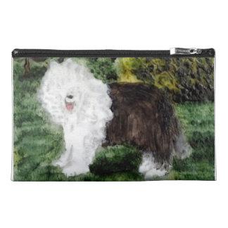 Old English Sheepdog Painting Travel Accessory Bag