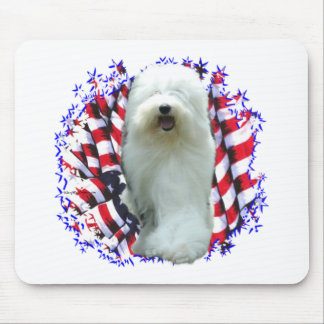 Old English Sheepdog Patriot Mouse Pad