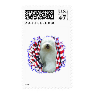 Old English Sheepdog Patriot Postage
