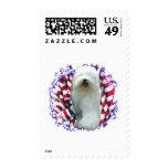 Old English Sheepdog Patriot Postage Stamp