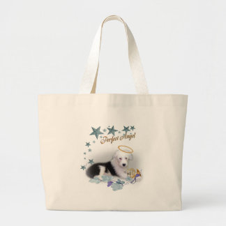 Old English Sheepdog Perfect Angel Jumbo Tote Bag