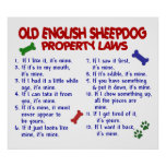 OLD ENGLISH SHEEPDOG PL2 POSTERS