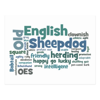 Old English Sheepdog Post Cards