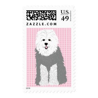 Old English Sheepdog Postage Stamps